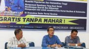 Arum Spink mengembalikan formulir di sekretariat partai Nasdem Bulukumba, Sabtu (28/9/2019) sore.