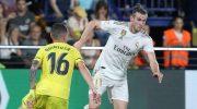 Bintang Real Madrid, Gareth Bale memborong dua gol ke gawang Villarreal (c) AP Photo