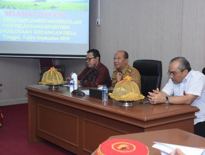 Kadis PMD Gowa Terima Tim Reviu Implementasi Regulasi Sistem Pengelolaan Keuangan Desa