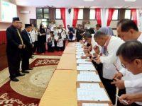 Penandatangnan Perjanjian Kerjasama antara Ombudsman RI Provinsi Sulawesi Selatan dengan Sekretaris Daerah Provinsi Sulawesi Selatan dan Sekretaris Daerah Kabupaten/Kota se-Sulawesi Selatan di Ruang Pola Kantor Gubernur Sulawesi Selatan, Rabu (4/9).