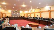 Mahasiswa KKN Universitas Muslim Indonesia (UMI) diterima secara resmi oleh Pemerintah Kabupaten Bantaeng di Ruang Pola Kantor Bupati Bantaeng, Jumat (6/9/2019) Pagi.