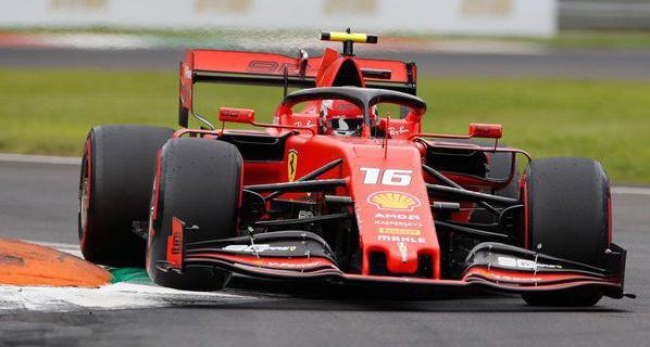 Pebalap Scuderia Ferrari, Charles Leclerc (c) AP Photo