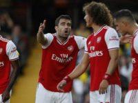 Skuat Arsenal di laga lawan Watford