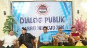 "Dialog Publik dengan tema ""Barru Menuju 2020"" di Ballroom Hotel Youtefa, Kabupaten Barru, Sabtu (21/9/2019)."