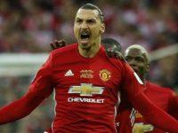 Zlatan Ibrahimovic saat masih berseragam Manchester United. (c) AFP
