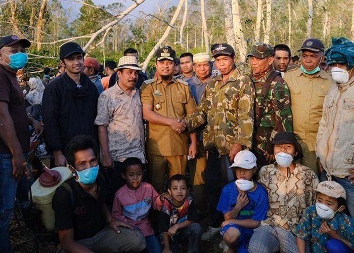 Wagub Sulsel mengunjungi lokasi kebakaran hutan Gunung Bawakaraeng Selasa (22/10/2019)