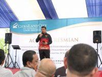 Penjabat Wali Kota Makassar, Iqbal Suhaeb resmikan revitalisasi taman gajah dan pos satpol PP