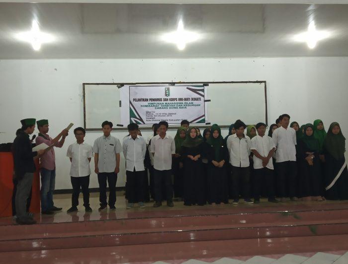 Pengurus HMI dan Kohati Tarbiyah UIN Alauddin Periode 2019-2020 Resmi Dilantik
