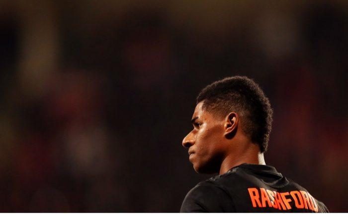 Marcus Rashford dalam laga AZ Alkmaar vs Manchester United