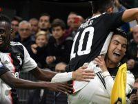 Paulo Dybala merayakan golnya ke gawang Inter Milan di laga Serie A