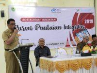 Bupati Barru Suardi Saleh membuka Sosialisasi Kegiatan Survei Penilaian Integritas (SPI) 2019