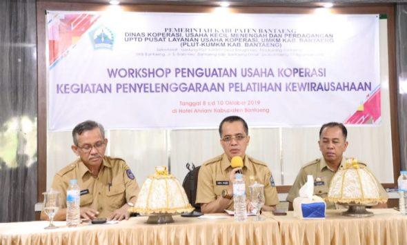 Workshop penguatan usaha koperasi kegiatan penyelenggaraan pelatihan kewirausahaan