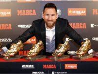 Lionel Messi memenangkan trofi sepatu emas Eropa 2019
