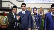 Politisi Partai NasDem, Rudianto Lallo (ke-2 dari kiri) resmi menjabat sebagai Ketua DPRD Kota Makassar