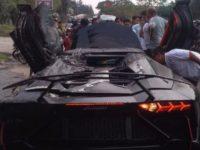 Kondisi Lamborghini Aventador Milik Raffi Ahmad usai terbakar.