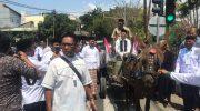 Daftar di PKB Bulukumba, Jamaluddin M Syamsir Disambut Pakai Delman
