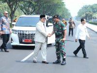 Prabowo Subianto kunjungan kerja di Mabes TNI. (Ist)