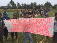 Bambu Runcing Warnai Aksi Solidaritas Warga Tolak Tambang di Pinrang