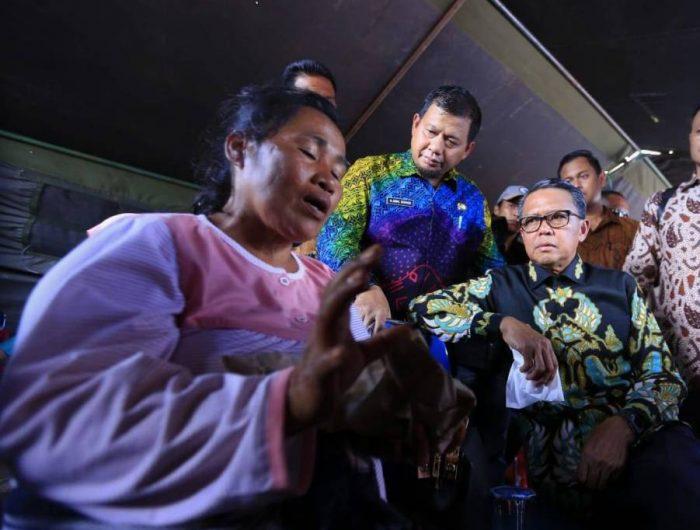 Pemkot Makassar menjemput warganya yang mengungsi meninggalkan Wamena tiba di Lanud Hasanuddin, Rabu (2/10/2019).