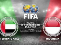 Pertandingan Uni Emirat Arab vs Indonesia.