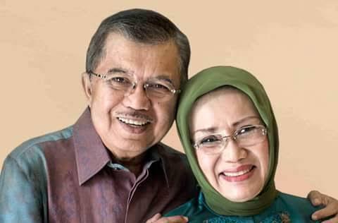 Jusuf Kalla dan Mufidah Kalla. (Ist)