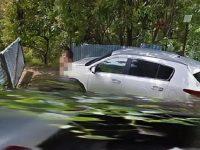 Pasangan mesum di pinggir jalan tertangkap kamera Google Maps. (Foto: Daily Mail)