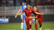 Indonesia meraih kemenangan kedua di SEA Games 2019 setelah menundukkan Singapura 2-0 (Foto: Grandyos Zafna/detikSport)