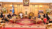 Produser film Ati Raja, Arwan Tjahjadi menemui Gubernur Sulawesi Selatan, Prof HM Nurdin Abdullah