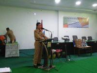 Pembukaan lomba pidato dengan tema HIV dan Stunting di Gedung Pertemuan Rumah Sakit Umum Daerah (RSUD) Sinjai