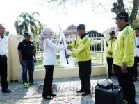 Lepas Kontingen Porseni PGRI ke Barru, Indah Titip Nama Baik Luwu Utara