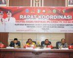 Rapat koordinasi Forum Koordinasi Pimpinan Daerah (Forkopimda) Kabupaten Bone