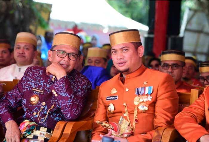 Gubernur Sulsel dan Bupati Gowa di kegiatan Hari Jadi Gowa ke-699 Tahun.