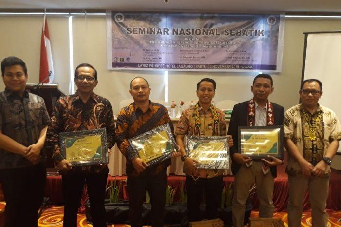 Jamaluddin M Syamsir didaulat sebagai salah satu keynote speaker pada Seminar Nasional SEBATIK 2019.