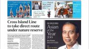 Presiden Joko Widodo (Jokowi) dianugerahi Asian of The Year dari media The Straits Times Singapura. Dok. Istimewa