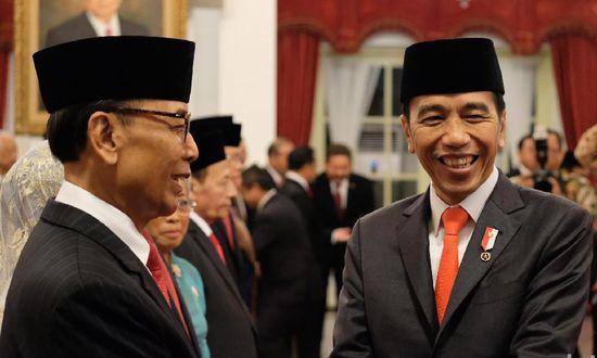 Jokowi tunjuk Wiranto jadi Ketua Wantimpres (Andhika/detikcom)