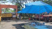 Kantor DLH Kota Parepare yang terletak di jalan Jenderal Ahmad Yani KM 5 Kota Parepare dalam kondisi tersegel.