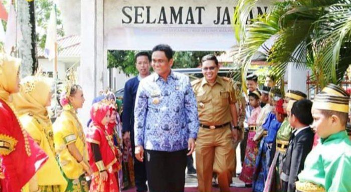Pekan Olahraga Seni dan Budaya di Sekolah Dasar Negeri 1 Barru, Selasa (17/12/19).