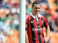 Zlatan Ibrahimovic saat masih bermain di Milan. (c) AFP