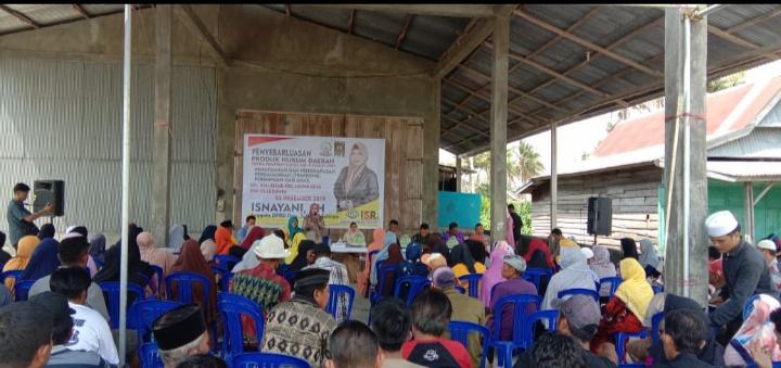 Anggota DPRD Sulsel, Isnayani gelar sosialisasi Penyebarluasan Peraturan Daerah (Perda) Provinsi Sulsel Nomor 9 Tahun 2017.