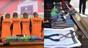 Polrestabes Makassar berhasil meringkus 11 pelaku begal.