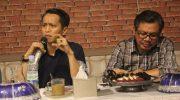 "Jamaluddin M Syamsir saat menjadi Narasumber di Bincang Santai ""Pilkada Bulukumba di Tengah Millenial""."