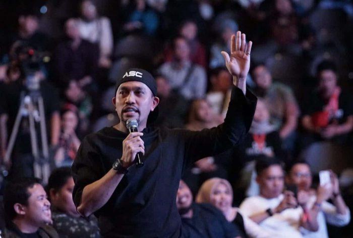 Ahmad Sahroni tampil jadi pembicara Milenial Fest 2019 di Balai Sarbini, Sabtu 24 Desember 2019