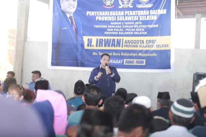 Anggota DPRD Sulsel H. Irwan Sosialisasikan Perda Zonasi Pesisir dan Pulau Kecil di Pangkep