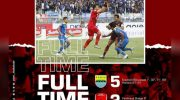Persib Bandung vs PSM Makassar.