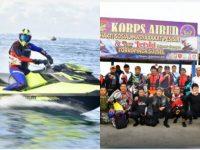 Gubernur Sulsel Prof Nurdin Abdullah melakukan touring jetski dengan menempuh rute Makassar-Parepare, Sabtu 28 Desember 2019.