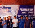 Irwan Bachri Syam Kembalikan Formulir ke DPC Demokrat Luwu Timur.