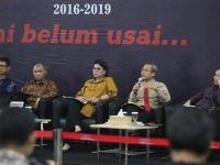 laporan kinerja KPK periode 2016-2019 di Gedung KPK, Jakarta, Selasa (17/12/2019)