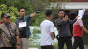 Rekonstruksi peristiwa penembakan Randi, mahasiswa Universitas Halu Oleo Kendari.