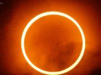 Gerhana Matahari Cincin. (Foto: BMKG)