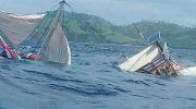Kapal rombongan jurnalis Presiden Republik Indonesia Terbalik d Labuan Bajo